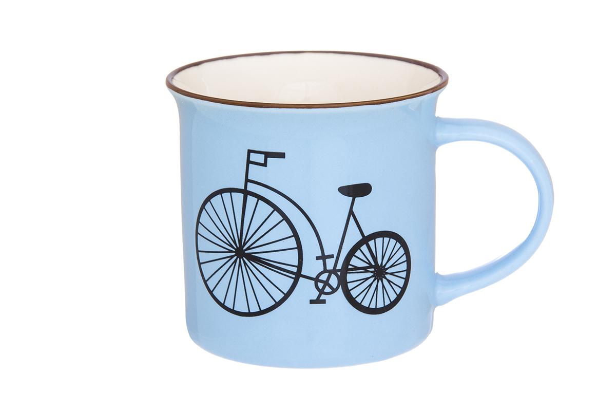 Кружка Elan Gallery Велосипед, цвет: голубой, 210 мл115510Кружка Elan Gallery Велосипед выполнена из высококачественного фарфора и оформлена красочным рисунком. Изделие станет отличным дополнением к сервировке семейного стола, а также замечательным подарком для ваших родных и друзей.Не рекомендуется применять абразивные моющие средства.Объем: 210 мл.