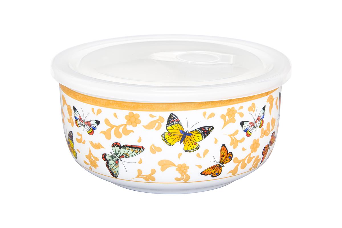 Салатник Elan Gallery Бабочки, с крышкой, 910 мл54 009312Великолепный салатник Elan Gallery Бабочки, изготовленный из высококачественного фарфора, прекрасно подойдет для подачи и хранения различных блюд: закусок, салатов или фруктов. Такой салатник украсит ваш праздничный или обеденный стол, а оригинальное исполнение понравится любой хозяйке. Не рекомендуется применять абразивные моющие средства. Не использовать в микроволновой печи.Диаметр салатника (по верхнему краю): 15 см.Высота салатника: 7 см.