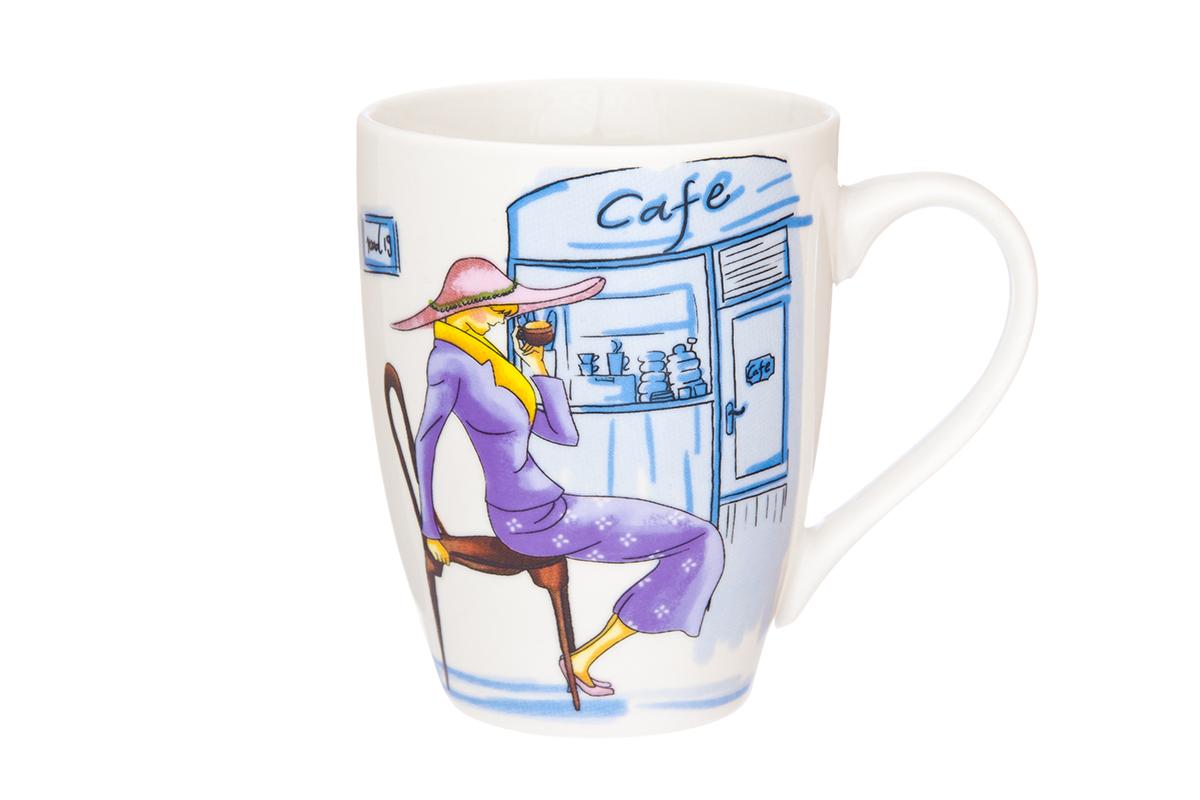 Кружка Elan Gallery Модница, 370 мл115510Кружка классической формы с удобной ручкой выполнена из высококачественного фарфора. Подходят для любых горячих и холодных напитков, чая, кофе, какао. Изделие имеет подарочную упаковку, поэтому станет желанным подарком для любимого человека и друга! Объём кружки: 370 мл.
