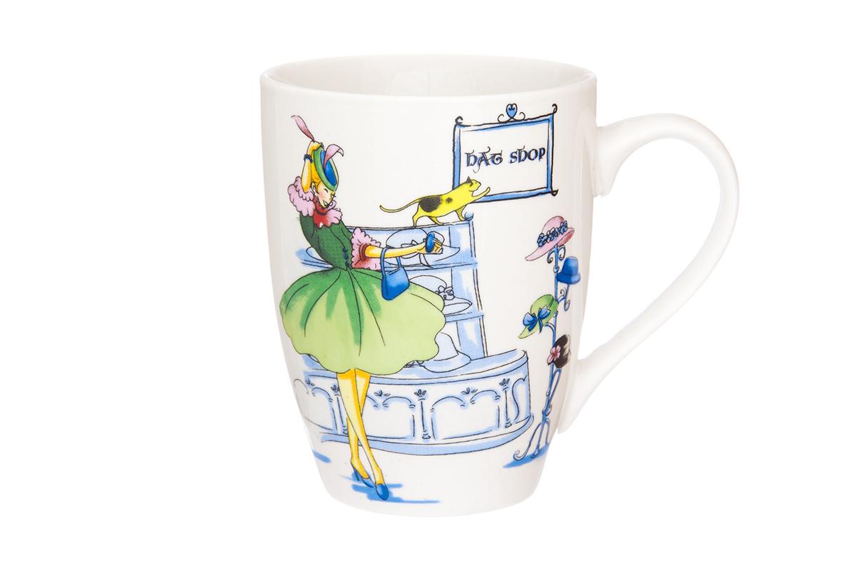 Кружка Elan Gallery Модница, 370 мл54 009303Кружка классической формы с удобной ручкой выполнена из высококачественного фарфора. Подходят для любых горячих и холодных напитков, чая, кофе, какао. Изделие имеет подарочную упаковку, поэтому станет желанным подарком для любимого человека и друга! Объём кружки: 370 мл.
