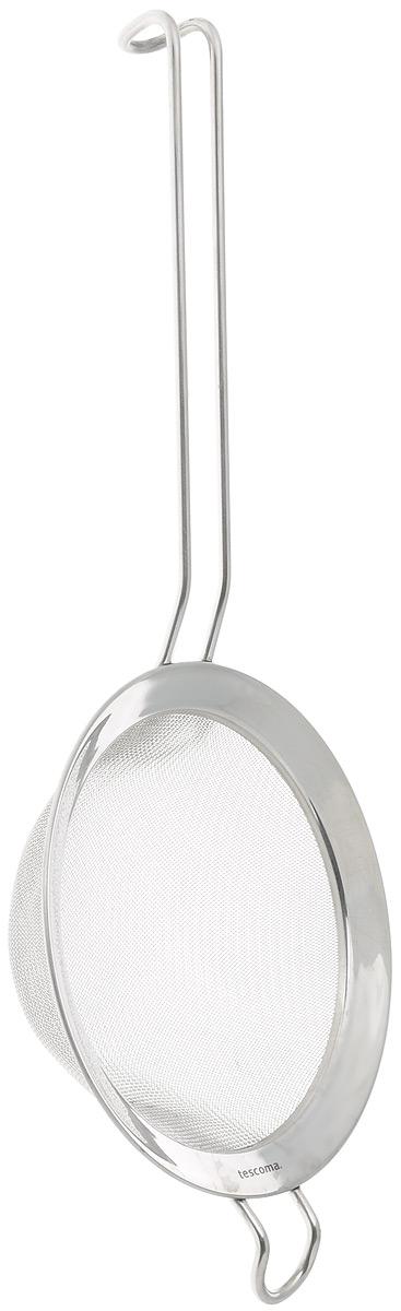 Сито Tescoma Chef, диаметр 14 смМ 1134Сито Tescoma Chef, выполненное из высококачественной нержавеющей стали, станет незаменимым аксессуаром на вашей кухне. Удобная ручка-пруток не позволит выскользнуть изделию из вашей руки. Прочная стальная сетка и корпус обеспечивают изделию износостойкость и долговечность. Сито оснащено специальным ушком, за которое его можно подвесить в любом месте.Такое сито поможет вам процедить или просеять продукты и станет достойным дополнением к кухонному инвентарю.Можно мыть в посудомоечной машине.Диаметр: 14 см.Длина ручки: 18 см.