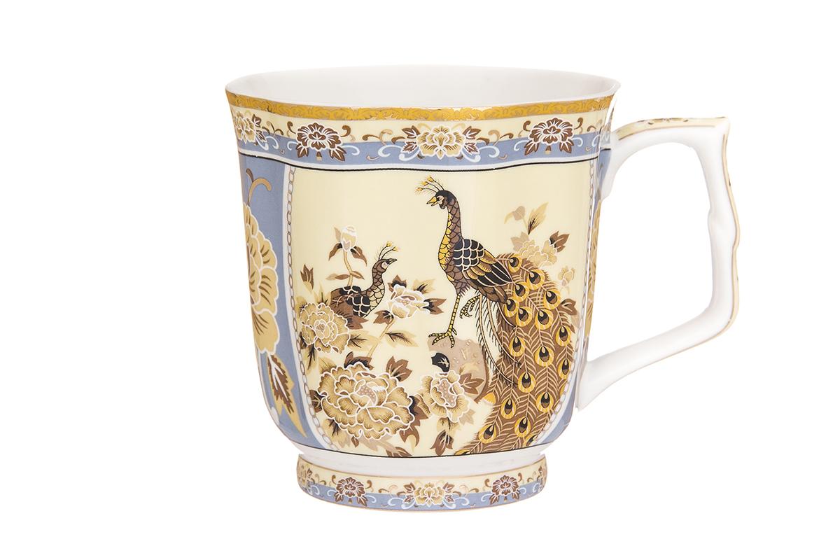 Кружка Elan Gallery Павлин, 340 млVT-1520(SR)Кружка классической формы с удобной ручкой выполнена из высококачественного фарфора. Подходят для любых горячих и холодных напитков, чая, кофе, какао. Изделие имеет подарочную упаковку, поэтому станет желанным подарком для любимого человека и друга! Объём кружки: 340 мл.