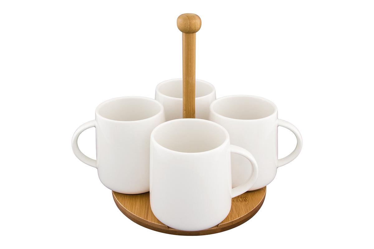 Набор кружек Elan Gallery Айсберг, на подставке, цвет: белый, 420 мл, 4 шт54 009312Набор из четырех кружек на подставке не только сделают Ваше чаепитие очень приятным, но и станет желанным подарком для Ваших близких! Размер набора: 22 х 22 х 21 см.Объем кружек: 420 мл.