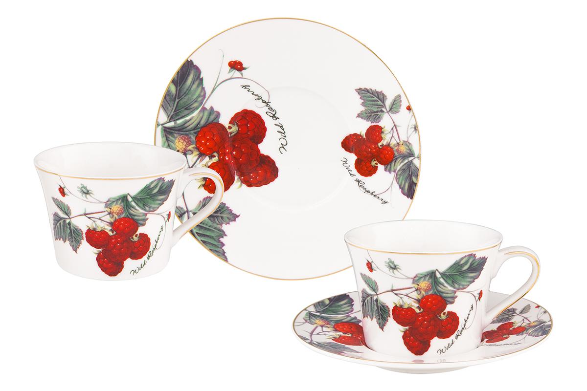 Набор чайный Elan Gallery Ягода-малина, 4 предмета115510Чайный набор Elan Gallery Ягода-малина состоит из 2 чашек, 2 блюдец, изготовленных из высококачественного фарфора. Предметы набора декорированы изображением ягод.Чайный набор Elan Gallery Ягода-малина украсит ваш кухонный стол, а также станет замечательным подарком друзьям и близким.Изделие упаковано в подарочную коробку с атласной подложкой. Не рекомендуется применять абразивные моющие средства. Не использовать в микроволновой печи.Объем чашки: 210 мл.
