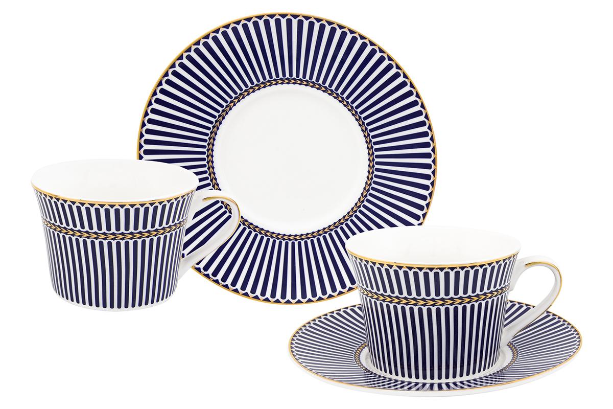 Набор чайный Elan Gallery Полоски, 4 предметаFS-91909Чайный набор Elan Gallery Полоски состоит из 2 чашек, 2 блюдец, изготовленных из высококачественного фарфора. Предметы набора декорированы полосатым изображением.Чайный набор Elan Gallery Полоски украсит ваш кухонный стол, а также станет замечательным подарком друзьям и близким.Изделие упаковано в подарочную коробку с атласной подложкой. Не рекомендуется применять абразивные моющие средства. Не использовать в микроволновой печи.Объем чашки: 210 мл.