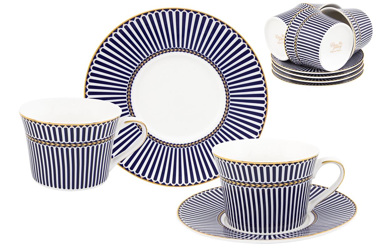 Набор чайный Elan Gallery Полоски, 12 предметов115510Чайный набор Elan Gallery Полоски состоит из 6 чашек, 6 блюдец, изготовленных из высококачественного фарфора. Предметы набора декорированы полосатым изображением.Чайный набор Elan Gallery Полоски украсит ваш кухонный стол, а также станет замечательным подарком друзьям и близким.Изделие упаковано в подарочную коробку с атласной подложкой. Не рекомендуется применять абразивные моющие средства. Не использовать в микроволновой печи.Объем чашки: 200 мл.Размер чашек: 11 х 9 х 6 см. Размер блюдец: 15,5 х 15,5 х 2 см.