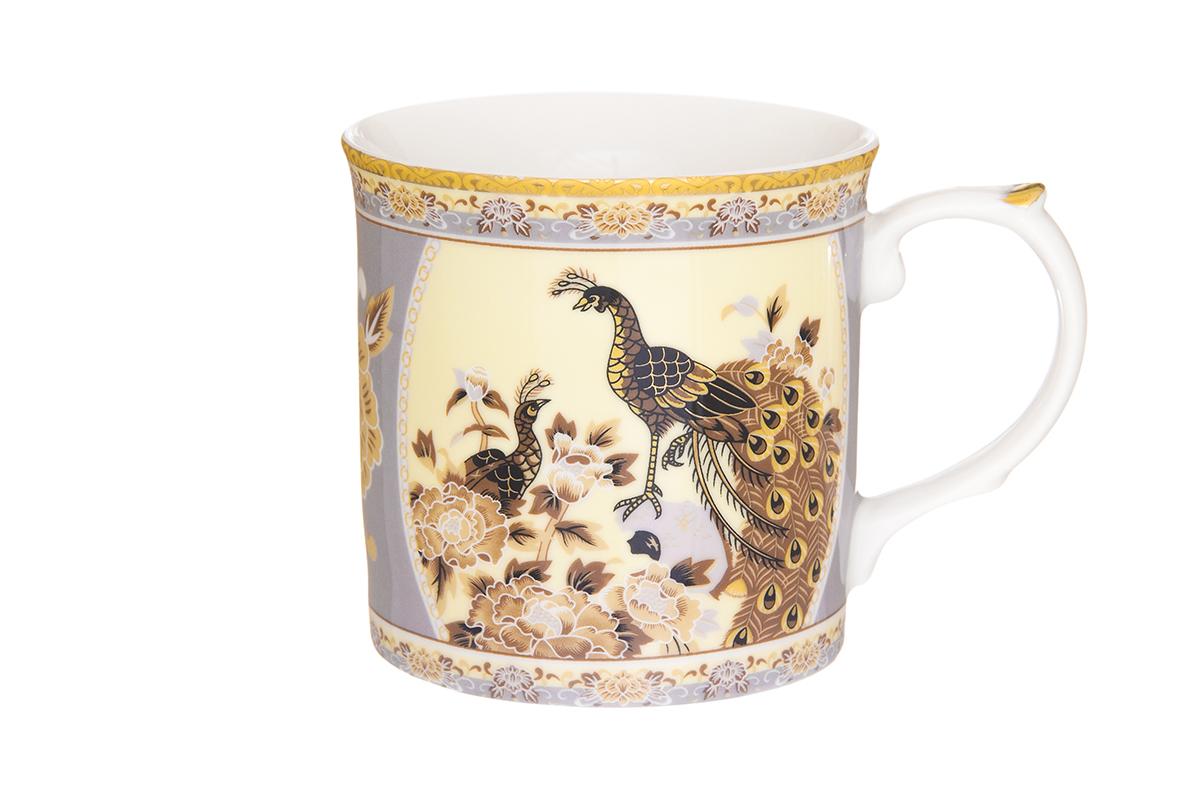 Кружка Elan Gallery Павлин, 320 мл115510Кружка классической формы с удобной ручкой выполнена из высококачественного фарфора. Подходят для любых горячих и холодных напитков, чая, кофе, какао. Изделие имеет подарочную упаковку, поэтому станет желанным подарком для любимого человека и друга! Объём кружки: 320 мл.Размер кружка: 12 х 8,5 х 8,5 см.