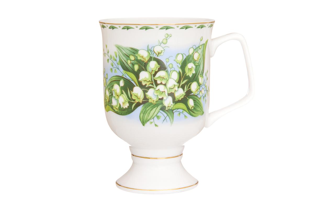 Кружка кофейная Elan Gallery Ландыши, 380 млFS-91909Кружка станет отличным дополнением к сервировке семейного стола и замечательным подарком для ваших родных и друзей. Размер 12х8,5х12,5 см. Объем 380 мл.