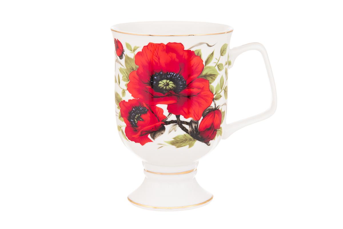 Кружка кофейная Elan Gallery Маки, 380 мл94672Кружка станет отличным дополнением к сервировке семейного стола и замечательным подарком для ваших родных и друзей. Размер 12х8,5х12,5 см. Объем 380 мл.
