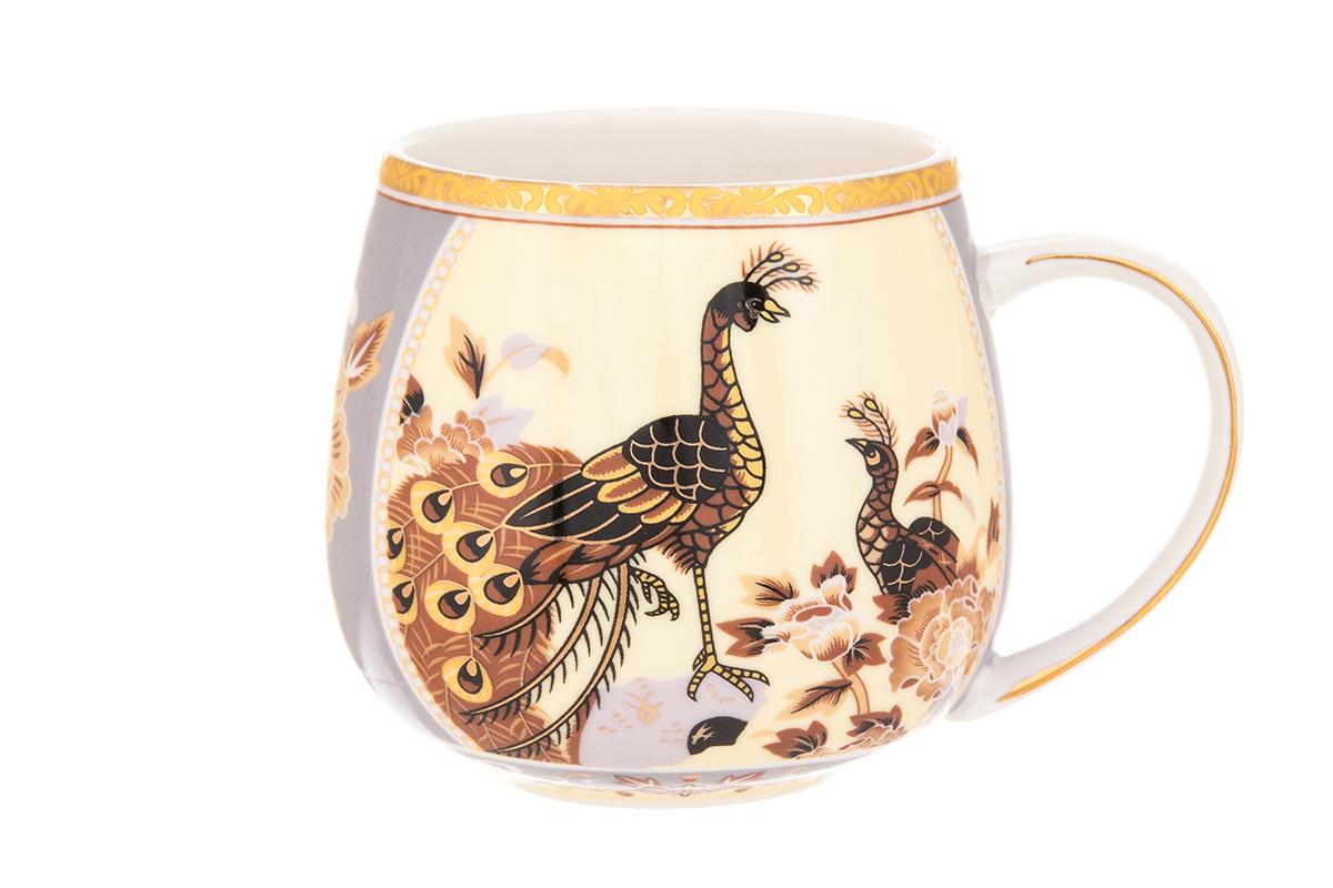 Кружка Elan Gallery Павлин, 400 мл115510Кружка классической формы с удобной ручкой выполнена из высококачественного фарфора. Подходят для любых горячих и холодных напитков, чая, кофе, какао. Изделие имеет подарочную упаковку, поэтому станет желанным подарком для любимого человека и друга! Объём кружки: 300 мл.Размер кружки: 12,5 х 9,5 х 8,5 см.