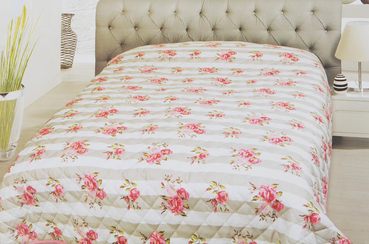 Покрывало Schaefer, цвет: серый, белый, розовый, 220 х 240 смES-412Стеганое покрывало Schaefer с красивым орнаментом прекрасно дополнит интерьер спальни. Покрывало выполнено из высококачественного 100% полиэстера, который отличается мягкостью и необычайной шелковистостью.Модный рисунок, современные цветовые сочетания, гладкая приятная ткань делают покрывало прекрасным украшением интерьера.