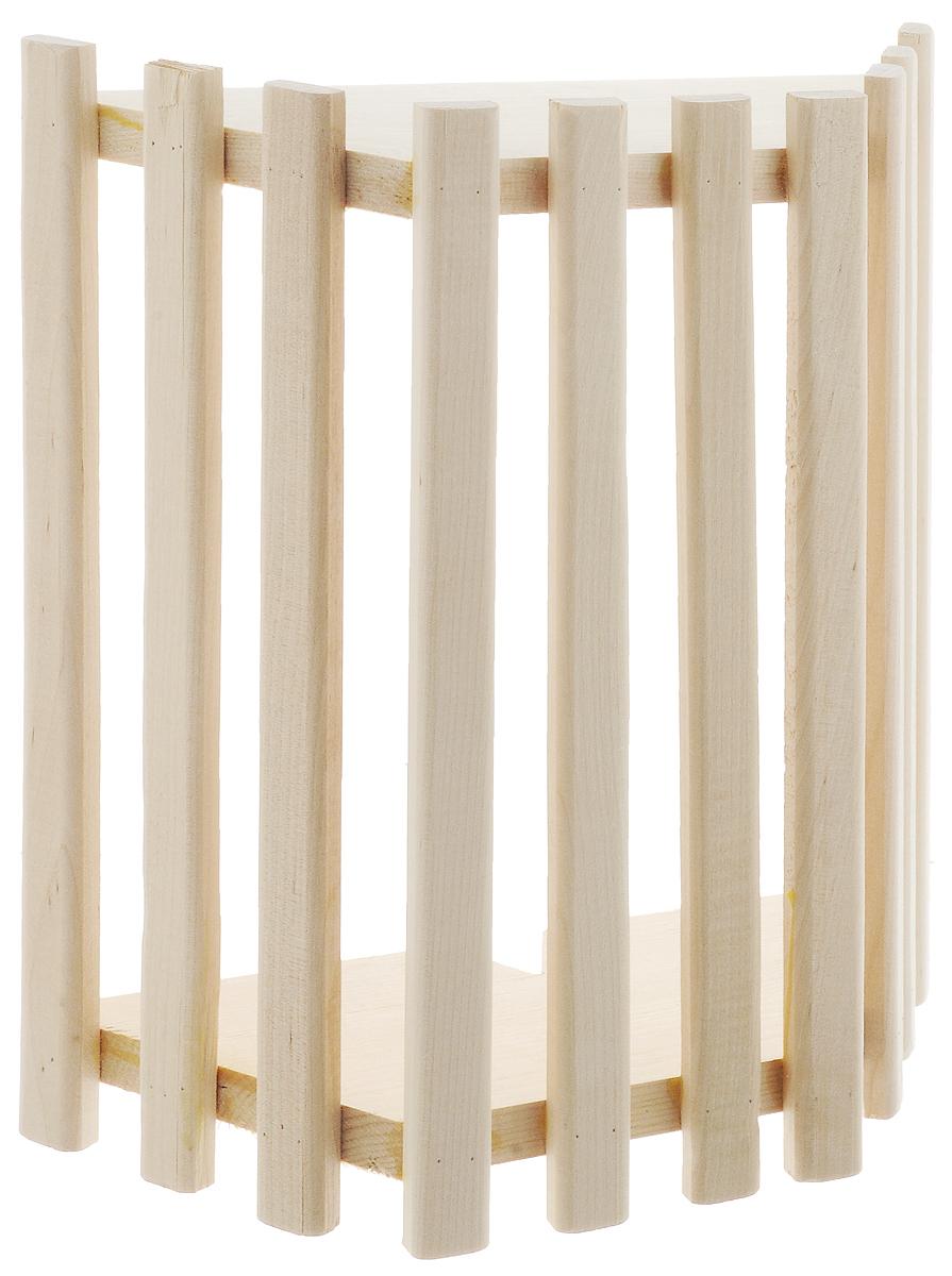 Абажур Доктор Баня, 26 х 30 х 10,5 см787502Настенный абажур для светильника Доктор Баня, выполненный из натурального дерева, украсит вашу баню или сауну и защитит от яркого света лампы.Размер абажура: 26 х 30 х 10,5 см.