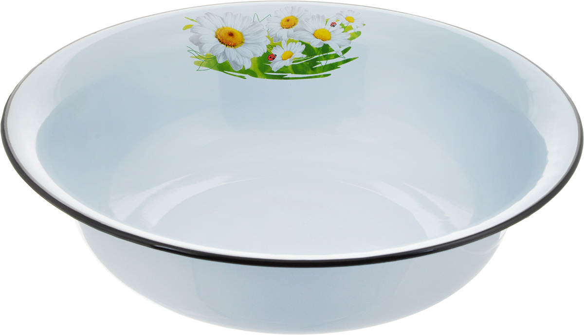 Миска Эмаль, 4 л. 02-0314/454 009312Миска Эмаль, изготовленная из стали с эмалированным покрытием, имеет круглую форму. Изделие оформлено изображением цветов. Такая миска прекрасно подойдет для сервировки ягод, овощей, фруктов, салатов и других продуктов.