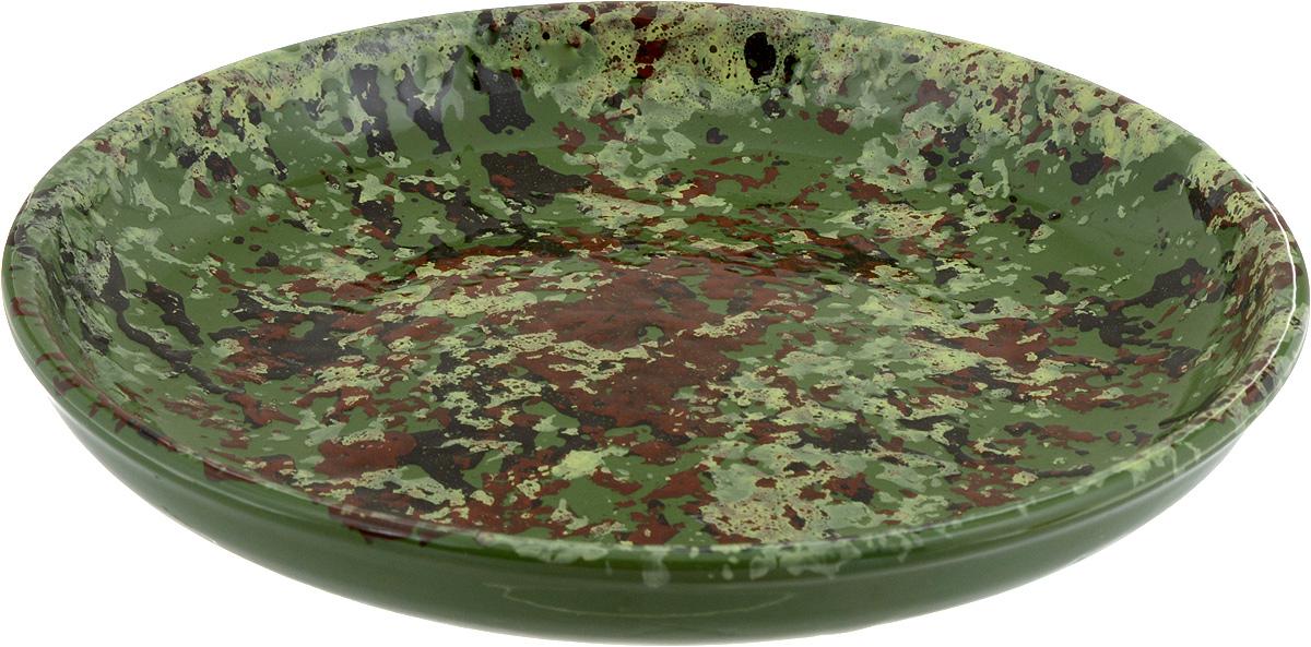 Тарелка Борисовская керамика Радуга, цвет: зеленый, коричневый, диаметр 18 см115610Тарелка Борисовская керамика Радуга, изготовленная из керамики, имеет изысканный внешний вид. Лаконичный дизайн придется по вкусу и ценителям классики, и тем, кто предпочитает утонченность. Такая тарелка идеально подойдет для сервировки стола, а также для запекания вторых блюд в духовке.Тарелка Борисовская керамика Радуга впишется в любой интерьер современной кухни и станет отличным подарком для вас и ваших близких.