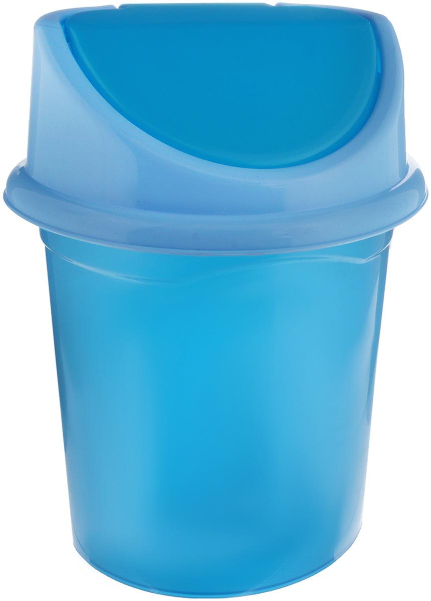 Контейнер для мусора Violet, цвет: синий металлик, голубой, 4 л68/5/1Контейнер для мусора Violet изготовлен из прочного пластика и снабжен удобной съемной крышкой с подвижной перегородкой. В нем удобно хранить мелкий мусор. Благодаря лаконичному дизайну такой контейнер идеально впишется в интерьер и дома, и офиса.Размер изделия: 16 x 20 x 27 см.Размер ведра без крышки: 15 х 19 х 27 см.Размер крышки: 16,3 х 18 х 8 см.