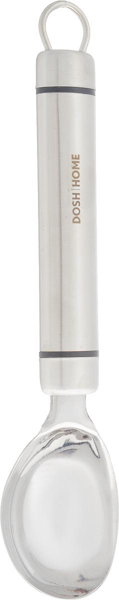 Ложка для мороженого Dosh Home Orion, длина 21,2 см115510Ложка Dosh Home Orion, изготовленная из высококачественной нержавеющей стали, отлично подходит для того, чтобы без труда сервировать мороженое порционно. Прочная конструкция позволит сформировать красивые шарики даже из самого твердого мороженого. На ручке есть удобное ушко для подвешивания.Можно мыть в посудомоечной машине. Длина ложки: 21,2 см. Размер рабочей поверхности: 6 х 4,5 см.