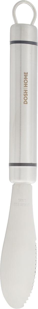Нож для масла Dosh Home Orion, длина лезвия 10 см100123Нож для масла Dosh Home Orion имеет специальную форму, которая позволяет легкоотрезать и намазывать масло. Лезвие изготовлено из первоклассной нержавеющей стали.Лезвие долгое время сохраняет заточку. Такой нож займет достойное место среди аксессуаров на вашей кухне. Изделие можно мыть в посудомоечной машине. Длина ножа: 24 см, Ширина: 3 см.