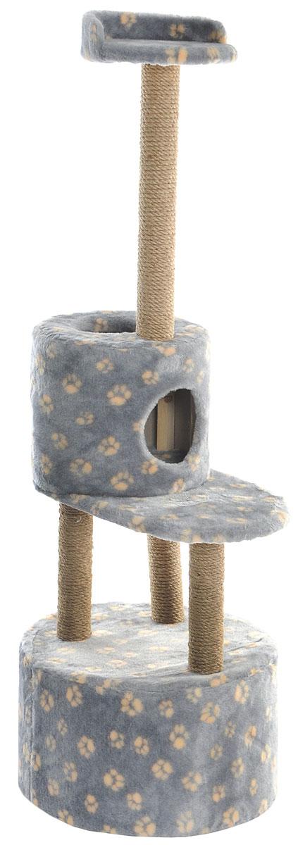 Домик-когтеточка Меридиан, круглый, с площадкой и полкой, цвет: серый, бежевый, 55 х 50 х 147 см101246Домик-когтеточка Меридиан выполнен из высококачественных материалов.Изделие предназначено для кошек. Оно включает в себя 2 домика разных размеров и 2 полки. Изделие обтянуто искусственным мехом, а столбики изготовлены из джута. Ваш домашний питомец будет с удовольствием точить когти о специальные столбики. Места хватит для нескольких питомцев. Домик-когтеточка Меридиан принесет пользу не только вашему питомцу, но и вам, так как он сохранит мебель от когтей и шерсти.Общий размер: 55 х 50 х 147 см. Размер большого домика: 50 х 50 х 29 см.Размер малого домика: 33 х 33 х 29 см.Размер нижней полки: 55 х 34 см.Размер верхней полки: 27 х 27 см.