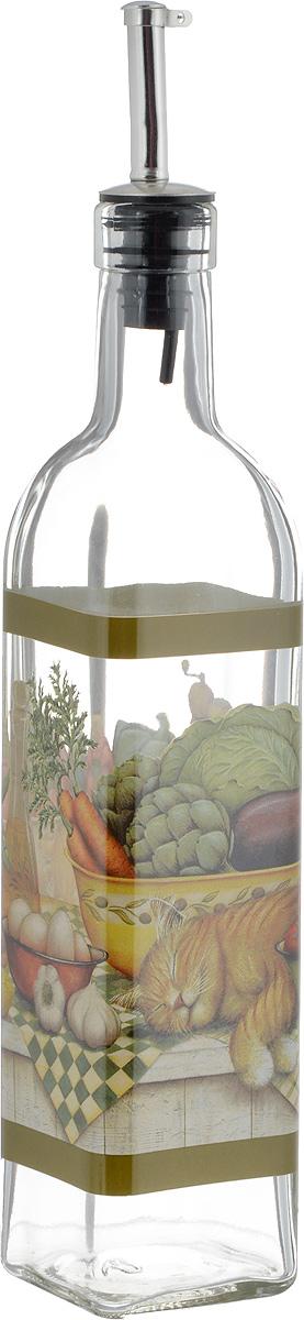 Бутылка для масла и уксуса SinoGlass Ленивый повар, 500 млВетерок 2ГФБутылка для масла или уксуса SinoGlass Ленивый повар, выполненная из стекла, украсит любую кухню. Металлическая крышка с носиком снабжена клапаном антикапля, не допускающим пролива. Стенки бутылки прозрачные, поэтому вы с легкостью можете видеть содержимое.Оригинальная бутылка будет отлично смотреться на вашей кухне.Высота бутылки (с учетом носика): 31 см. Размер основания: 5,5 х 5,5 см.