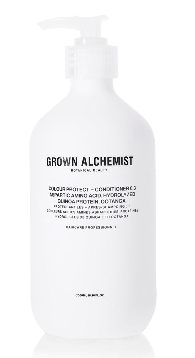 Grown Alchemist Кондиционер для окрашеных волос 500 мл67117599Кондиционер запечатывает краску и блеск в структуре волоса, благодаря чему цвет волос долго остается таким же, как сразу после окрашивания. Он также защищает волосы от УФ-повреждений, воды и стресса, вызванного воздействием окружающей среды. Кондиционер облегчает расчесывание, делает волосы блестящими и увлажняет их.