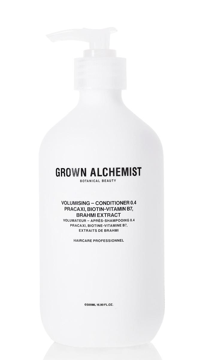 Grown Alchemist Кондиционер для придания объема волосам 500 млFS-00897Передовая формула кондиционера придает объем и визуальную густоту тонким и «плоским» волосам, распутывает, увлажняет и делает их блестящими.