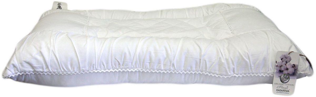 Подушка KAZANOV.A. Organic Cotton. Princess, цвет: белый, 50 x 70 смU110DFХлопковое волокно на 90% состоит из целлюлозы, благодаря чему обеспечивается прекрасная гигроскопичность. Подушки из хлопка не накапливают статическое электричество, хорошо пропускают воздух, обладают дезодорирующим и бактериостатическим эффектом. Его бактерицидные свойства препятствуют образованию пыли и неприятных запахов. Эфирные масла содержащиеся в волокнах эвкалипта испаряются во время сна и оказывают оздоравливающее влияние на кожу и организм в целом. Мягкий и лёгкий наполнитель для постельных принадлежностей, получают из волокон эвкалиптовых деревьев, выращенных на специальных, экологически чистых плантациях. Природный наполнитель обеспечивает великолепный теплообмен, что способствует созданию здорового и комфортного микроклимата во время сна. Так же немаловажно то, что изделия с наполнителем из эвкалиптового волокна могут подвергаться машинной стирке и очень просты в уходе. Все это великолепие в чехле из 100% хлопка не оставит равнодушным самого искушённого потребителя.