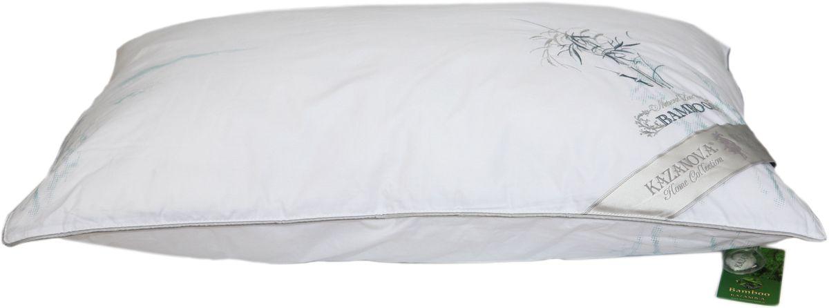 Подушка KAZANOV.A. Bamboo, цвет: белый, 50 х 70 см531-10570% бамбук, 30% суперфайн файбер, оптимальное соотношение бамбука и экологичного гипоаллергенного наполнителя-superfine fiber сохраняет полезные свойства бамбука и делает подушку очень легкой и мягкой. Чехол из высококачественного хлопка повышенной плотности с лазерным напылением-одеяло не требует дополнительного внутреннего чехла, легкое и приятное в использовании, долговечное. Отделка: вышивка бамбук над угловой лентой, выполненная шелковой нитью. Эксплуатация: всесезонное, дышащее, гипоаллергенное.