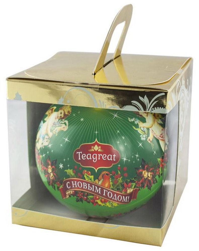 Дольче Вита Новогодний черный листовой чай (цвет зеленый), 50 гбар165рКупаж индийского и цейлонского черного крупнолистового чая с добавлением лепестков василька, листьев малины, ягод смородины, можжевельника и бузины, ароматизирован натуральными маслами клубники и сливы.Чай поставляется в металлическом новогоднем шаре, упакованном в праздничную коробку.