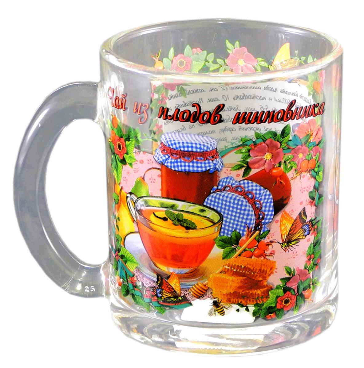 Кружка чайная Квестор  Чай из плодов шиповника , 320 мл115510Кружка чайная Квестор  Чай из плодов шиповника , 320 мл