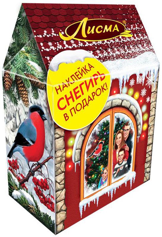 Лисма Новогодние чудеса черный листовой чай, 80 г0120710Чай Лисма Новогодние чудеса - это крепкий индийский чай в волшебном домике.В подарок вы получите наклейку на окно в виде снегиря, она украсит дом к новогоднему празднику.