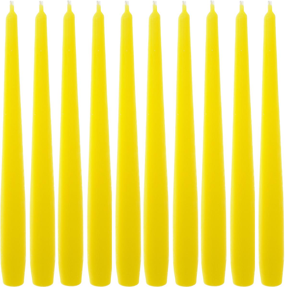 Набор свечей Омский cвечной завод, цвет: желтый, высота 24 см, 10 шт74-0120Набор Омский cвечной завод состоит из 10 свечей, изготовленных из парафина и хлопчатобумажной нити. Такие свечи создадут атмосферу таинственности и загадочности и наполнят ваш дом волшебством и ощущением праздника. Хороший сувенир для друзей и близких.Примерное время горения: 7 часов. Высота: 24 см. Диаметр: 2 см.