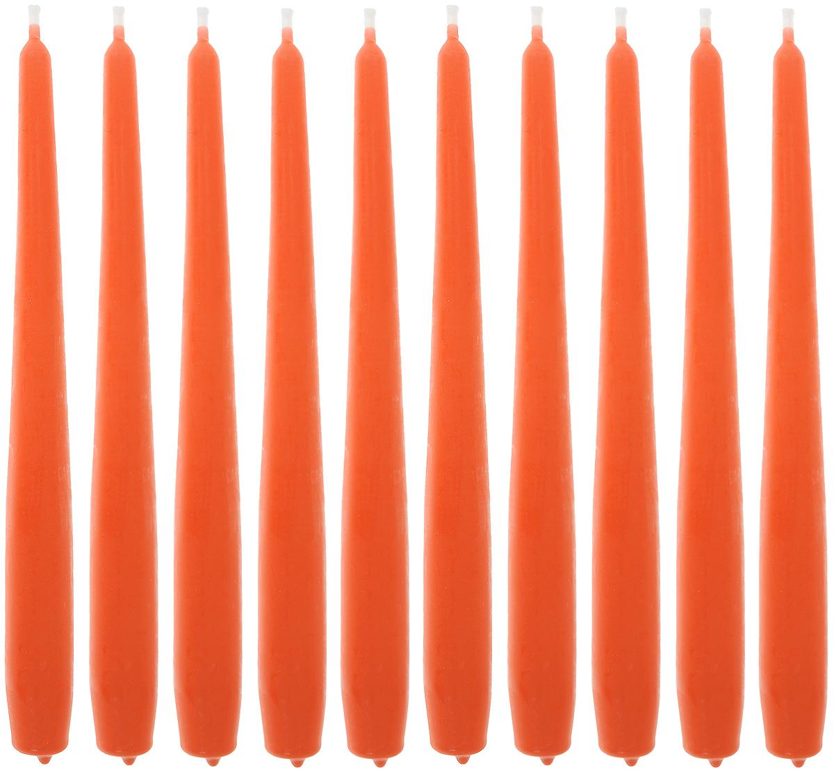 Набор свечей Омский cвечной завод, цвет: оранжевый, высота 24 см, 10 штБрелок для ключейНабор Омский cвечной завод состоит из 10 свечей, изготовленных из парафина и хлопчатобумажной нити. Такие свечи создадут атмосферу таинственности и загадочности и наполнят ваш дом волшебством и ощущением праздника. Хороший сувенир для друзей и близких.Примерное время горения: 7 часов. Высота: 24 см. Диаметр: 2 см.