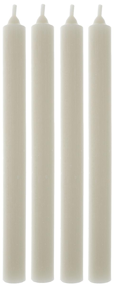 Набор свечей Омский cвечной завод, цвет: белый, высота 23,5 см, 4 шт набор свечей winter wings классика цвет голубой высота 25 см 4 шт