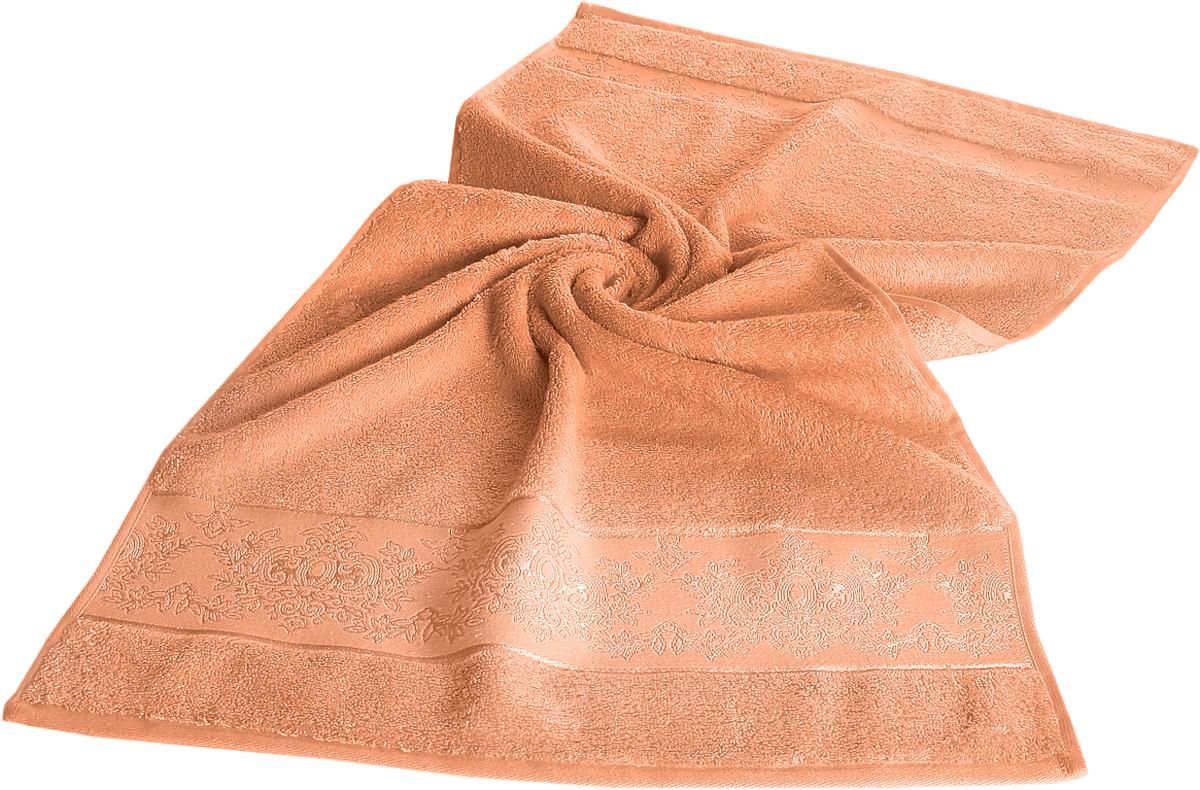 Полотенце бамбуковое Karna Pandora, цвет: абрикосовый, 70 х 140 см. 215768/5/1Бамбуковое полотенце Karna Pandora займет достойное место в ванной комнате.Гипоаллергенное бамбуковое полотенце подойдет даже детям, а его антибактериальные свойства - весьма прекрасное дополнение к имеющимся достоинствам. Бамбуковое полотенце сможет долго радовать своими красками и внешним видом. Размер: 70 х 140 см.