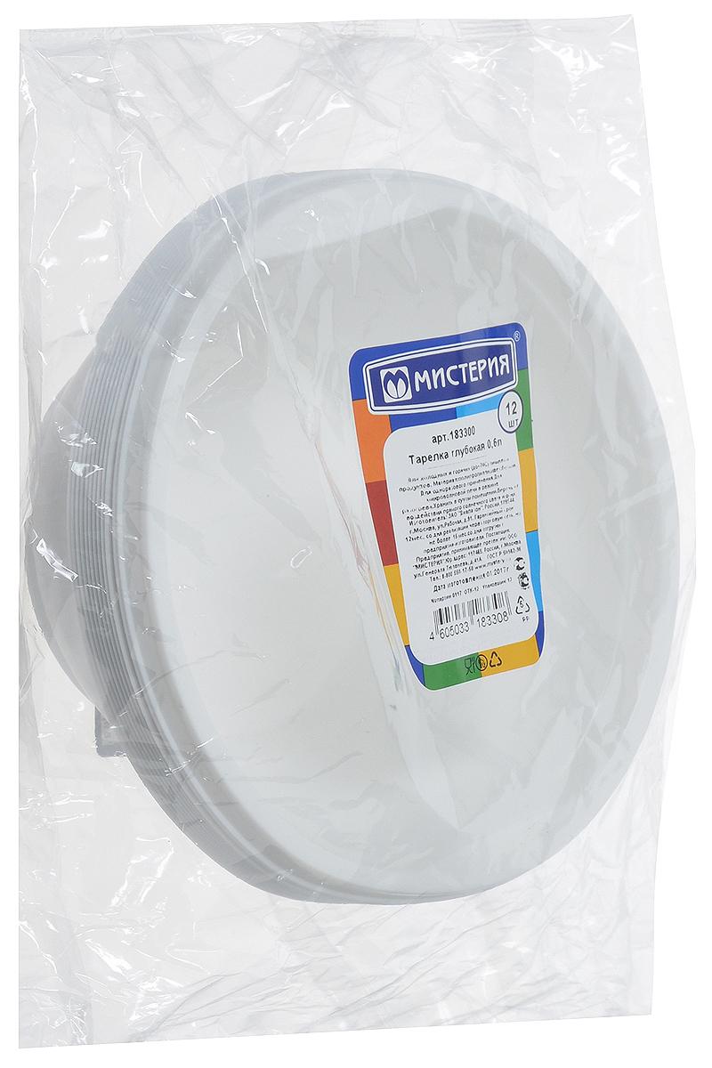 Набор одноразовых глубоких тарелок Мистерия, 600 мл, 12 штПОС08743Одноразовые тарелки Мистерия выполнены из высококачественного полипропилена. Они будут незаменимы при поездках на природу, пикниках и других мероприятиях. Такие тарелки не займут много места, легки и самое главное - после использования их не надо мыть.Диаметр тарелки: 14,5 см.Высота тарелки: 6 см.Количество тарелок: 12 шт.