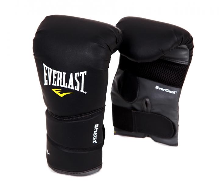 Перчатки снарядные Everlast Protex2. Размер L/XLAIRWHEEL Q3-340WH-BLACKБоксерские перчатки Protex 2 Heavy Bag Gloves имеют следующие особенности:Мелкие отверстия по всей площади ладони обеспечивают сухость и прохладу.Новый облегченный дизайн без большого пальца.Высококачественный кожезаменитель гарантирует максимальную прочность и долговечность.