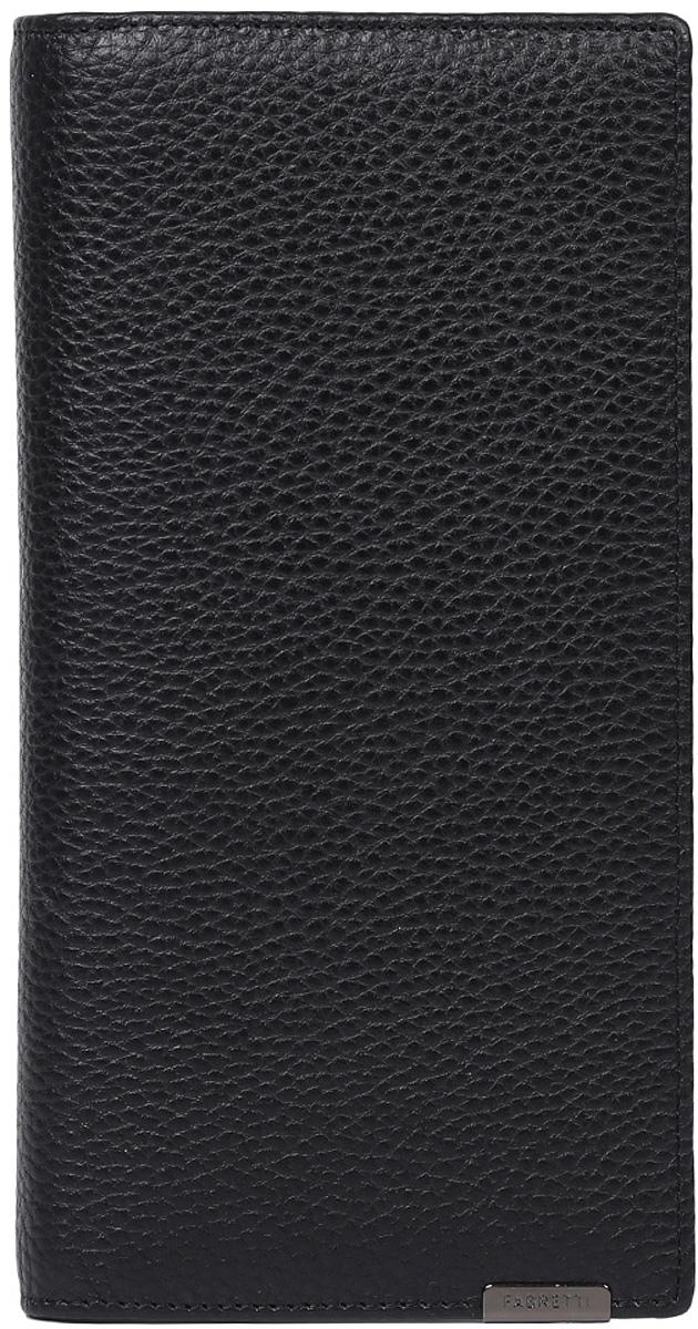 Кошелек мужской Fabretti, цвет: черный. 72519-blackINT-06501Классический мужской кошелек от итальянского бренда Fabretti выполнен из натуральной пористой кожи, которая имеет мягкую и приятную на ощупь фактуру. Внутри изделия находятся три отделения для купюр, одно из которых закрывается на молнию. Вы с легкостью сможете расположить кредитные и дисконтные карты с помощью 9 отделений, а также любимую фотографию. Внутри имеется удобный карман для мелочи, который закрывается на заклепку.