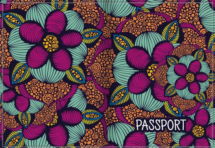 Обложка для паспорта женская КвикДекор, цвет: мультиколор. DC-17-0077-1-1KW064-000178Оригинальная женская обложка для паспорта КвикДекор изготовлена из качественной экокожи. Подходит для всех видов паспортов, как общегражданских, так и заграничных. Изображение устойчиво к стиранию. Изделие раскладывается пополам.Яркий современный дизайн выполнен художником Валентиной Рамос (MGL).