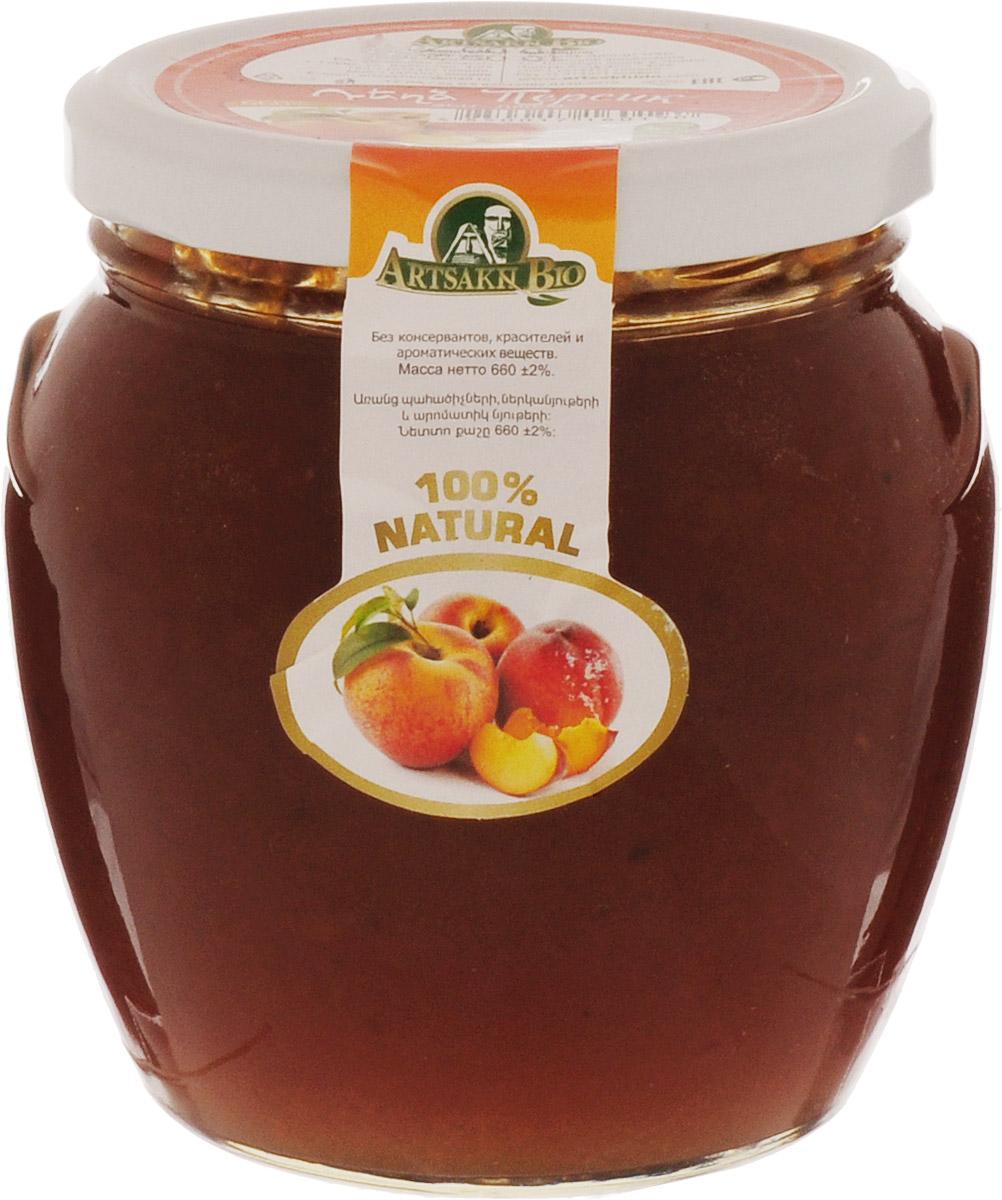 Artsakh Bio джем из персиков, 660 г0120710Для приготовления джема Artsakh Bio используются только свежие, тщательно отобранные плоды. Продукт рекомендован маленьким детям и людям с пониженным иммунитетом. Особенно актуально употребление плодов тем, кто страдает заболеваниями сердца и сосудов, застоями желчи и почечной недостаточностью.