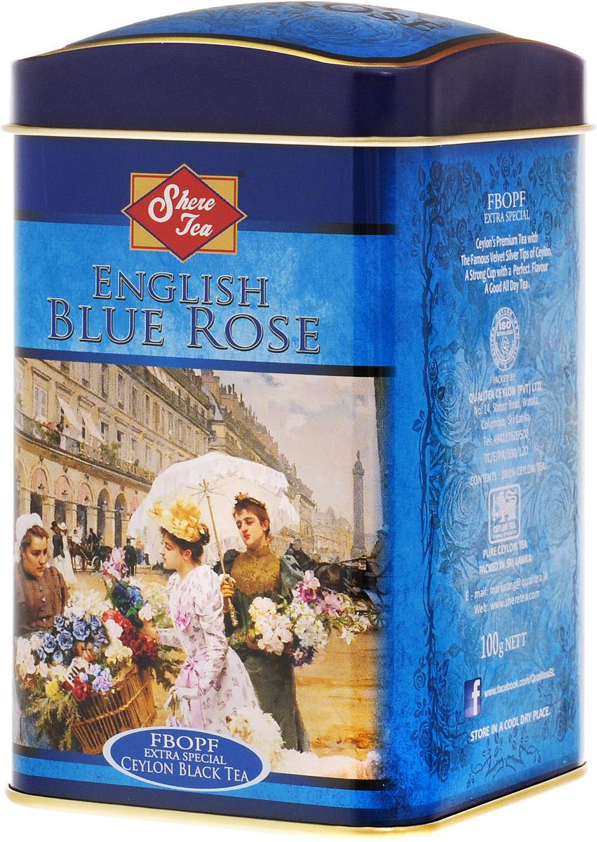 Shere Tea Английская голубая роза чай черный листовой, 100 г101246Черный листовой чай Shere Tea Английская голубая роза быстро заваривается, имеет яркий, прозрачный и интенсивный настой. Вкус полный, терпкий, слегка вяжущий. Аромат чая полный, приятный, выражен достаточно ярко.Знак в виде Льва с 17 пятнышками на шкуре - это гарантия Бюро Цейлонского Чая на соответствие чая высокому стандарту качества, установленному Правительством и упакованному только в пределах Шри-Ланки.