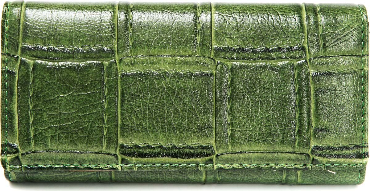 Кошелек женский Mitya Veselkov, цвет: зеленый. K3-12SARMA норка С030-1Женский кошелек от модного бренда Mitya Veselkov изготовлен из натуральной кожи. Купюры вмещаются в полную длину. Закрывается кошелек при помощи клапана на кнопку. Внутри расположено три отделения для купюр, кармашки для пластиковых карт и визиток, одно отделение для мелочи.Такой кошелек стильно дополнит ваш образ и станет незаменимым аксессуаром.