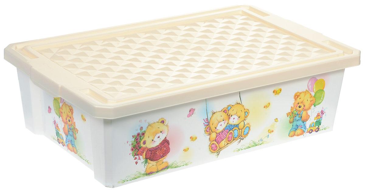Little Angel Ящик для игрушек X-Box Bears на колесах 30 л цвет слоновая кость № 210503Детский ящик для игрушек Little Angel X-Box City на колесах выполнен из прочного материала и украшен забавным изображением. В нем можно удобно и компактно хранить белье, одежду, обувь или игрушки. Ящик оснащен плотно закрывающейся крышкой, которая защищает вещи от пыли, грязи и влаги. Ящик оснащен четырьмя колесами. Декор ящика износоустойчив, его можно мыть без опасения испортить рисунок. Прочный каркас ящика позволит хранить как легкие вещи, так и более тяжелый груз. Такой ящик непременно привлечет внимание ребенка и станет незаменимым для хранения игрушек, книжек и других детских принадлежностей. Он отлично впишется в детскую комнату и поможет приучить ребенка к порядку.