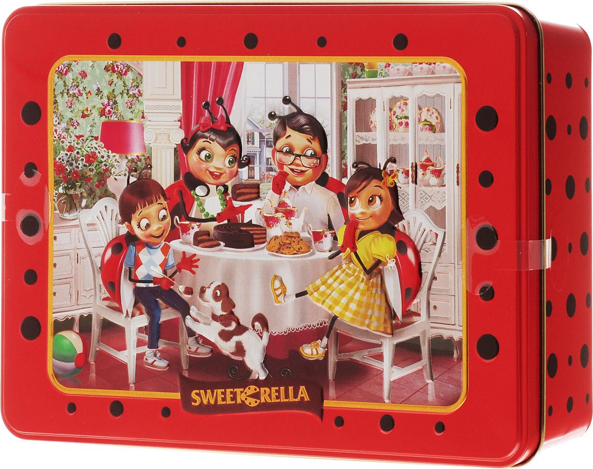 Sweeterella печенье сдобное ассорти 6 вкусов, 510 г0120710Sweeterella - ассорти превосходного сдобного печенья, изготовленного по традиционным старинным рецептам. Печенье с кусочками шоколада, печенье с кусочками шоколада и ароматом апельсина, печенье с хлопьями миндаля, печенье с ароматом яблока и корицей, печенье с ароматом яблока и изюмом, печенье кокосовое. Печенье упаковано в удобную прямоугольную жестяную банку.