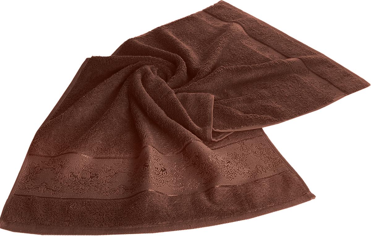 Полотенце Karna Pandora, цвет: темно-коричневый, 70 х 140 см. 21592159/CHAR007