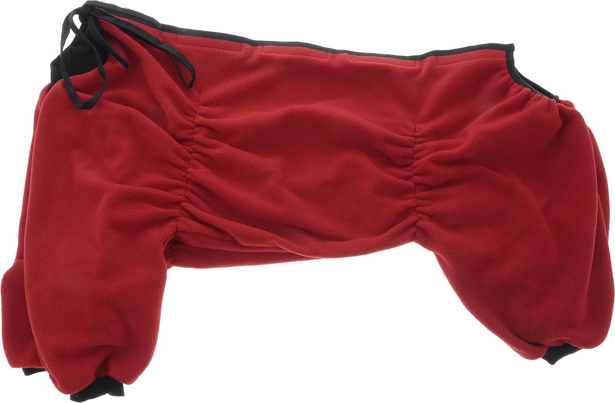 Комбинезон для собак OSSO Fashion, для девочки, цвет: бордовый. Размер 55DM-160103-4_синийКомбинезон для собак OSSO Fashion выполнен из флиса. Комфортная посадка по корпусу достигается за счет резинок-утяжек под грудью и животом. На воротнике имеются завязки, для дополнительной фиксации. Можно носить самостоятельно и как поддевку под комбинезон для собак. Изделие отлично стирается, быстро сохнет.Длина спинки: 55 см.Объем груди: 66-90 см.
