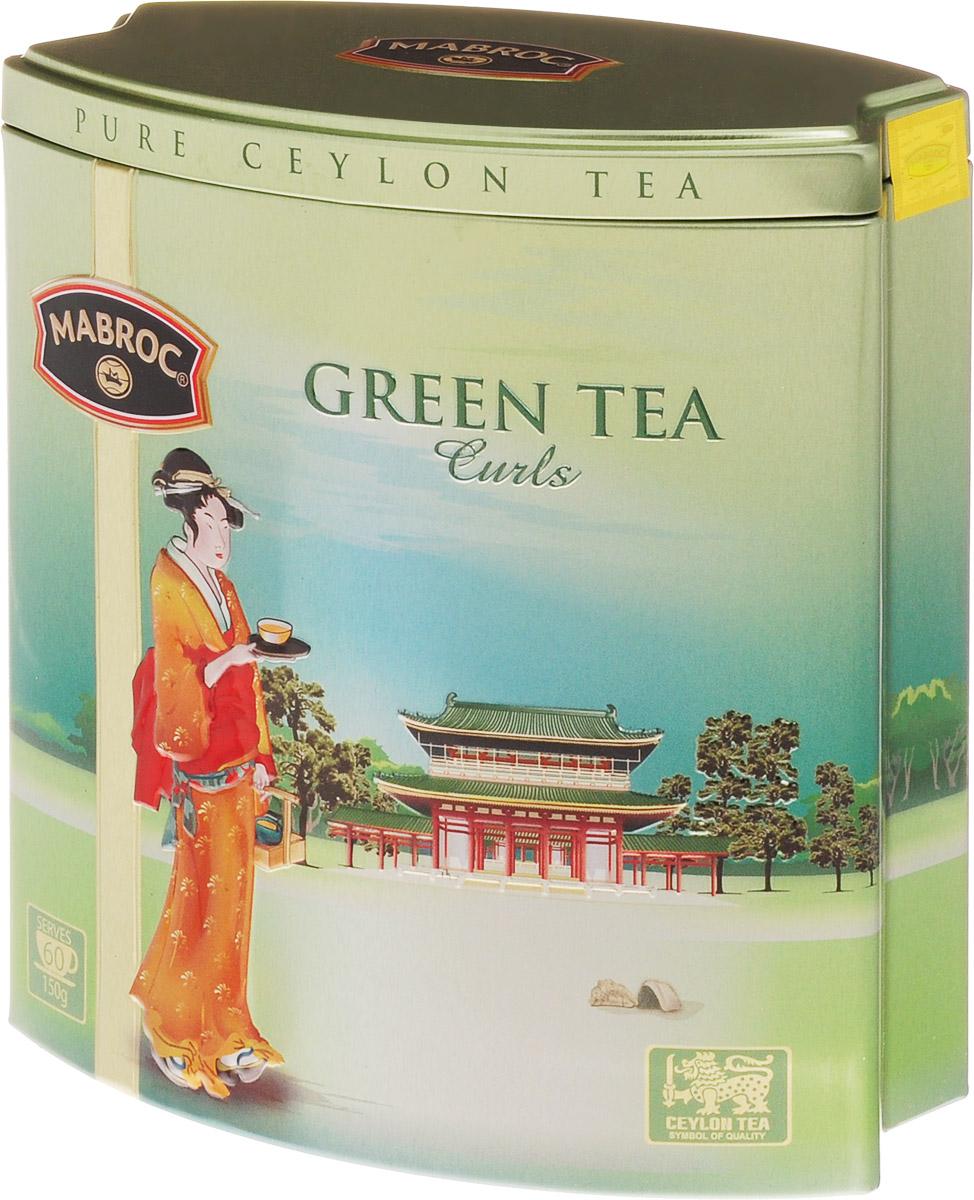 Mabroc Зеленые кольца чай зеленый листовой, 150 г0120710Чай Зеленые кольца производится на старейшей зарегистрированной фабрике, на Шри-Ланке. Чай выращивается на самых высоких точках плантаций Нувара Элия, укутанных облаками, и производится по старинной китайской методике. Зеленые спирали имеют легко узнаваемые вкус и аромат.Знак в виде Льва с 17 пятнышками на шкуре - это гарантия Цейлонского Чайного Бюро на соответствие чая высокому стандарту качества, установленному Правительством и упакованному только в пределах Шри-Ланки.