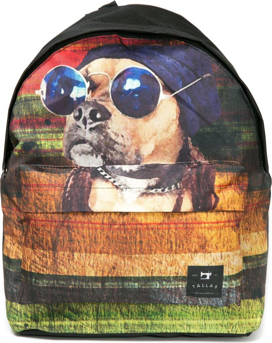 Рюкзак женский Mitya Veselkov Собака в очках, цвет: черный. BACKPACK-DOGS76245Стильный и удобный рюкзак Mitya Veselkov Собака в очках декорирован ярким принтом с изображением собаки. Рюкзак сделан из текстиля. Изделие имеет одно основное вместительное отделение, которое закрывается на молнию. Внутри есть еще одно отделение для мелочей. Изделие оснащено двумя текстильными лямками, которые регулируются по длине, и удобной ручкой для переноски. Снаружи, на передней стенке расположен накладной карман на молнии.Такой рюкзак эффектно дополнит ваш образ, поднимет настроение окружающим и станет незаменимым в повседневной жизни или в путешествии.