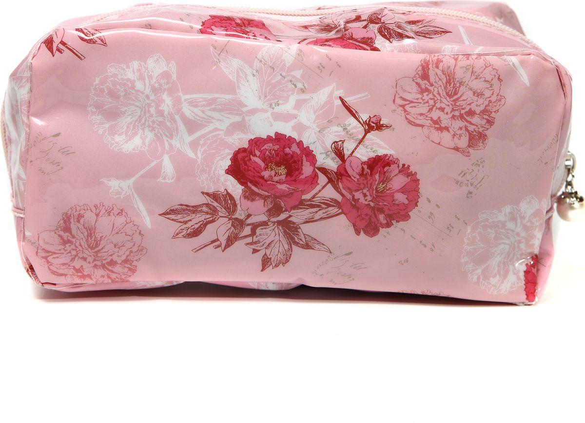 Косметичка женская Mitya Veselkov, цвет: розовый. KOSM10-FLOWERS-PINK-simINT-06501Стильная женская косметичка Mitya Veselkov выполнена из качественного полиэстера.Изделие содержит одно вместительное отделение, которое закрывается на застежку-молнию.