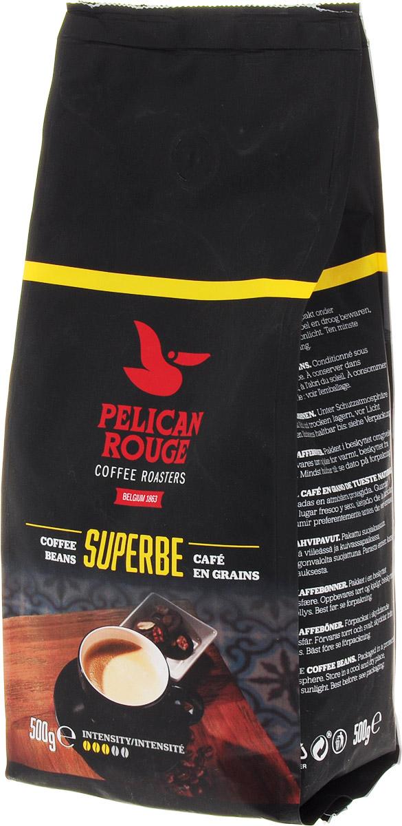 Pelican Rouge Superbe кофе в зернах, 500 г5410958119108Кофе Pelican Rouge Superbe - смесь лучших зерен Арабики и Робусты темной обжарки. Интенсивное сильное тело с легкой кислинкой и последующим сливочным послевкусием. Хорошо подходит для приготовления эспрессо, капучино и кофейных напитков с молоком.Первый сорт.