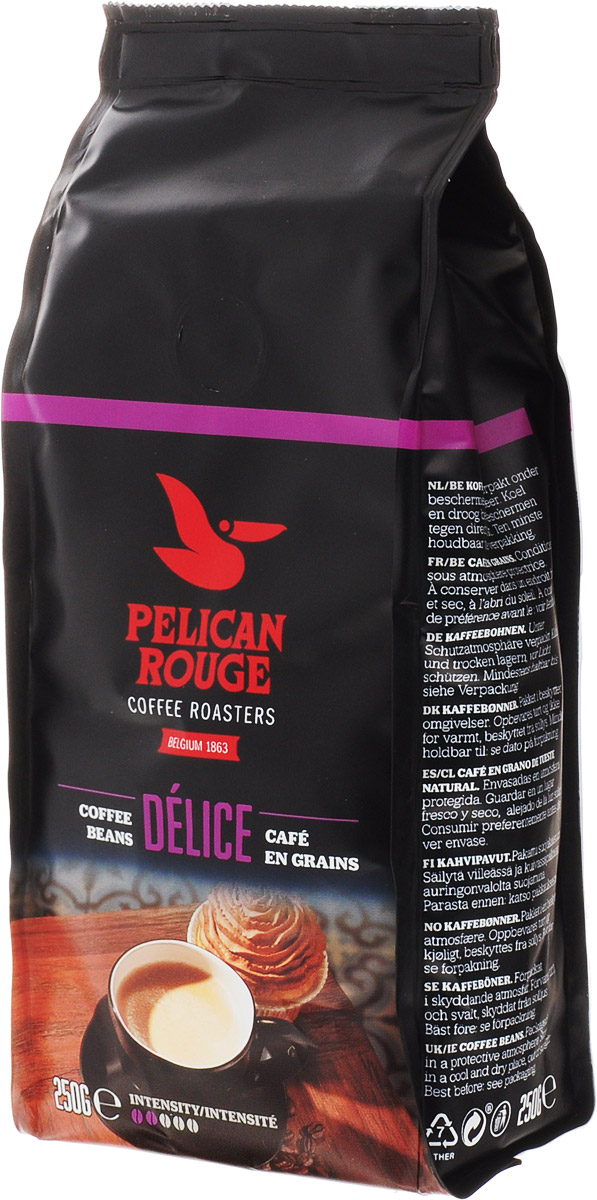 Pelican Rouge Delice кофе в зернах, 250 г5410958118996Кофе в зернах Pelican Rouge Delice средней обжарки с легким цветочным ароматом, вкусом спелых ягод и долгим приятным послевкусием пряностей. Идеально подходит для приготовления эспрессо, капучино и кофейных напитков с молоком.